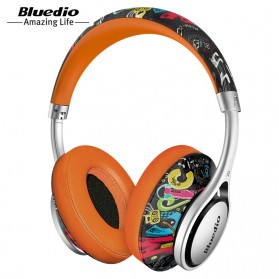 Bluedio A2 Fashionable Wireless Bluetooth Headphones - Black/Orange
