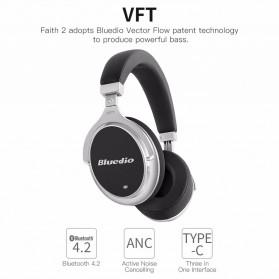 Bluedio F2 Wireless Bluetooth Headphones - Black - 4
