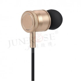 Junerose Earphone with Microphone and Volume Control - T55 - Black Gold