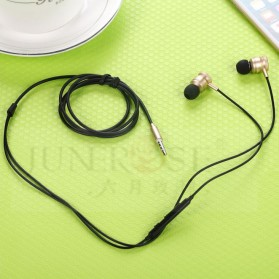 Junerose Earphone with Microphone and Volume Control - T55 - Black Gold - 5