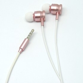 Earphone - Junerose Earphone with Microphone and Volume Control - T55 - Rose/White