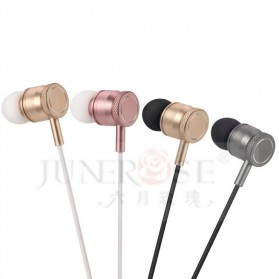 Junerose Earphone with Microphone and Volume Control - T55 - Rose/White - 3