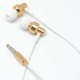 Junerose Earphone with Microphone - JR-R82 - White/Gold
