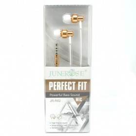 Junerose Earphone with Microphone - JR-R82 - White/Gold - 2