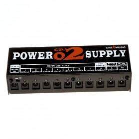 CeuMUSIC Adapter Power Supply 10 Output Max 1000mA untuk Pedal Efek Gitar - CP-02 - Black - 2