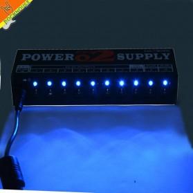 CeuMUSIC Adapter Power Supply 10 Output Max 1000mA untuk Pedal Efek Gitar - CP-02 - Black - 4