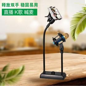 SODIAL Flexible Stand Mikrofon dan Lazypod Smartphone Holder - DM-722A - Black - 2