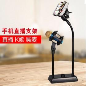 SODIAL Flexible Stand Mikrofon dan Lazypod Smartphone Holder - DM-722A - Black - 3