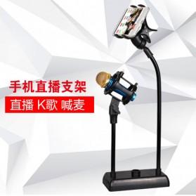 SODIAL Flexible Stand Mikrofon dan Lazypod Smartphone Holder - DM-722A - Black - 5