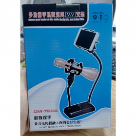 SnapVox Flexible Stand Mikrofon dan Lazypod Smartphone Holder with Pop Filter - DM-722 - Black - 7
