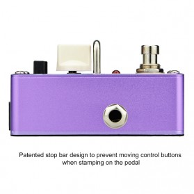 AROMA Pedal Efek Gitar Distorsi - AFM-3 Firecream - Purple - 2
