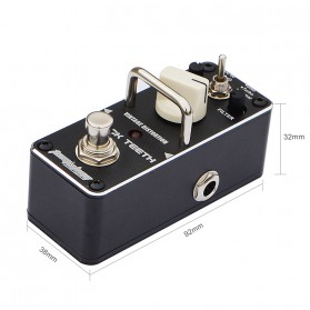 AROMA Pedal Efek Gitar Distorsi - AFM-3 Firecream - Purple - 3
