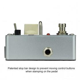 AROMA Pedal Efek Gitar Distorsi - ATP-3 Tube Pusher - Silver - 2