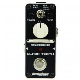 AROMA Pedal Efek Gitar Distorsi - ABT-3 Black Teeth - Black
