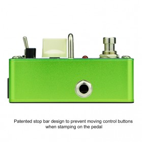 AROMA Pedal Efek Gitar Distorsi - AGR-3 Greenizer - Green - 2