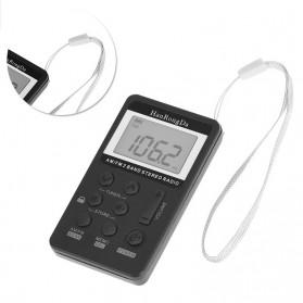 HanRongDa Portable FM AM Radio Player - HRD-103 - Black - 2