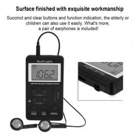 HanRongDa Portable FM AM Radio Player - HRD-103 - Black - 4