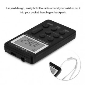 HanRongDa Portable FM AM Radio Player - HRD-103 - Black - 5