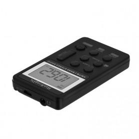 HanRongDa Portable FM AM Radio Player - HRD-103 - Black - 9