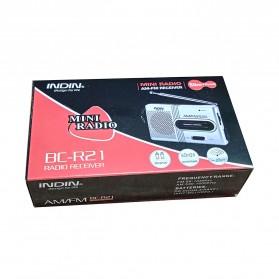 INDIN Portable AM/FM Radio Player Loudspeaker - BC-R21 - Silver - 6