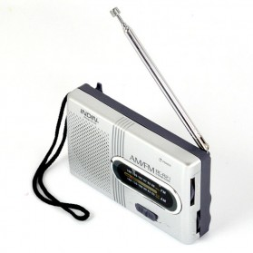 INDIN Portable AM/FM Radio Player Loudspeaker - BC-R21 - Silver