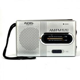 INDIN Portable AM/FM Radio Player Loudspeaker - BC-R21 - Silver - 3
