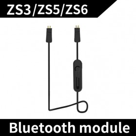 KZ Bluetooth Adapter Cable for Earphone ZS3/ZS5/ZS6 - Black