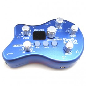 MOOER Pogo Multi Effect Pedal Gitar Electric Portable - Blue - 2