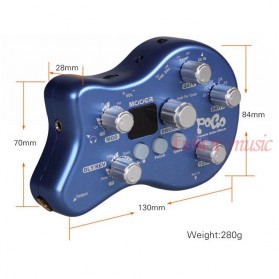 MOOER Pogo Multi Effect Pedal Gitar Electric Portable - Blue - 8