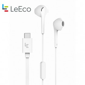 LeEco Earphone USB Type C with Mic for LeTV Smartphone - White