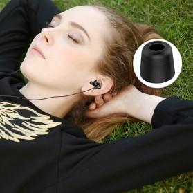 New Bee Universal Earphone Eartip Memory Foam 12.6 mm 6 Pasang - NB-JI - Black - 4