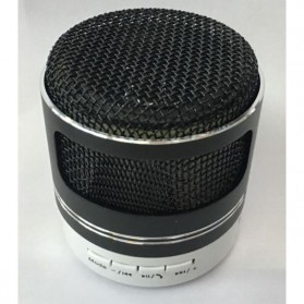 Mini Portable Bluetooth Speaker Model Mikrofon - Black - 2