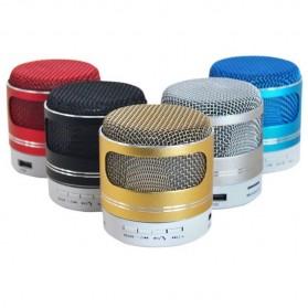 Mini Portable Bluetooth Speaker Model Mikrofon - Black - 3