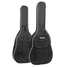 ADDFOO Tas Gitar Oxford Padded Guitar Case Double Strap Waterproof - ZH06501 - Black