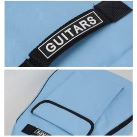 ADDFOO Tas Gitar Oxford Padded Guitar Case Double Strap Waterproof - ZH06501 - Black - 5