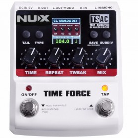 NUX Time Force Delay Effect / Pedal Efek Gitar Listrik - Black White