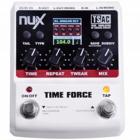 NUX Time Force Delay Effect / Pedal Efek Gitar Listrik - Black White - 2
