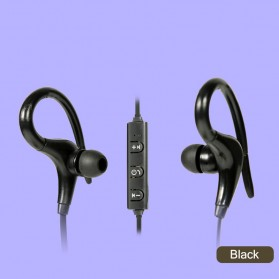 Sport Wireless Bluetooth Earphone dengan Mic - BT-01 - Black - 1