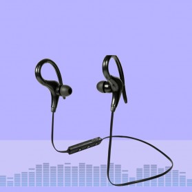 Sport Wireless Bluetooth Earphone dengan Mic - BT-01 - Black - 2
