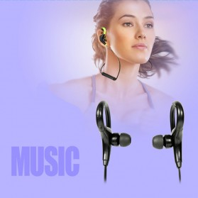 Sport Wireless Bluetooth Earphone dengan Mic - BT-01 - Black - 4