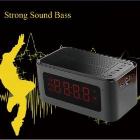Bluetooth Speaker Alarm Clock FM Radio - S-61 - Black - 3