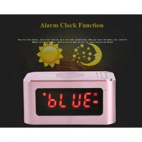 Bluetooth Speaker Alarm Clock FM Radio - S-61 - Black - 5