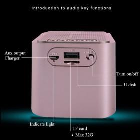 Bluetooth Speaker Alarm Clock FM Radio - S-61 - Black - 8