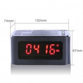 Bluetooth Speaker Alarm Clock FM Radio - S-61 - Black - 9