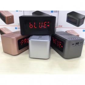 Bluetooth Speaker Alarm Clock FM Radio - S-61 - Black - 10