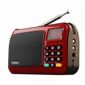 Rolton W405 Portable FM Radio Player TF Card - W405 - Red