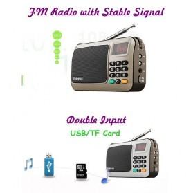 Rolton W405 Portable FM Radio Player TF Card - W405 - Red - 5