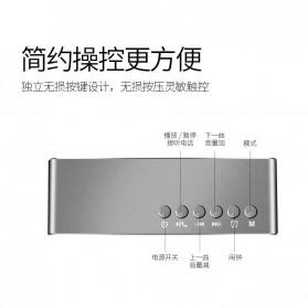 Bluetooth Speaker Alarm Clock FM Radio TF Card - Q9 - Black - 2