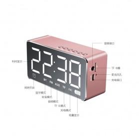 Bluetooth Speaker Alarm Clock FM Radio TF Card - Q9 - Black - 3