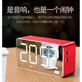 Bluetooth Speaker Alarm Clock FM Radio TF Card - Q9 - Black - 4